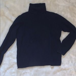 💥3 for $15💥 Navy blue ribbed turtleneck sweater